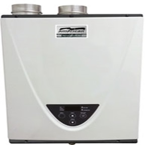 "TANKLESS NAT GAS 199KBTU WATER HEATER-3""PVC VENT-INDOOR"