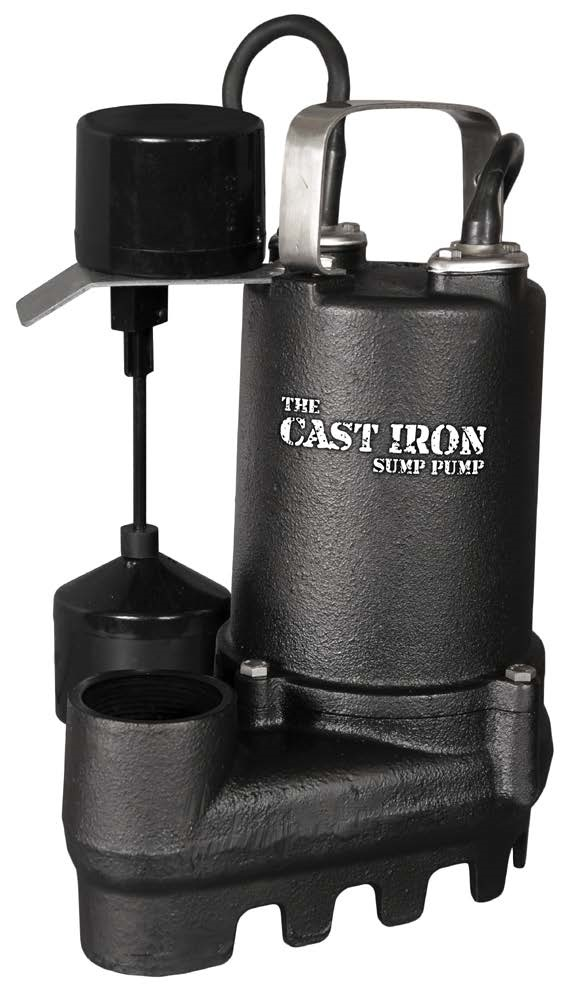 """THE CAST IRON SUMP PUMP""- 1/3HP- 53GPM @ 10'- 3YR WARR."